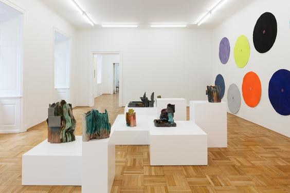 Polly Apfelbaum and Isa Melscheimer, Installation view Raum 1, Photo © Markus Wörgötter
