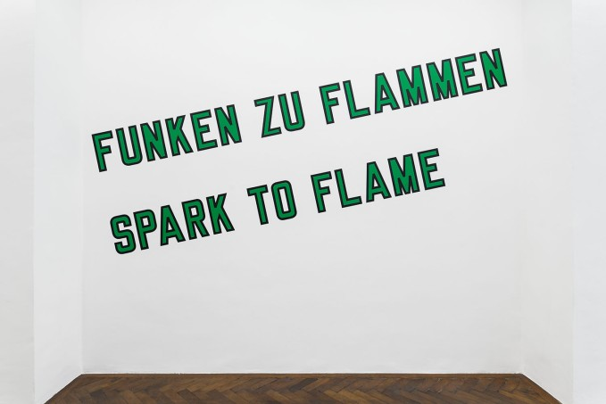 Lawrence Weiner, SPART THE FLAME, 2019